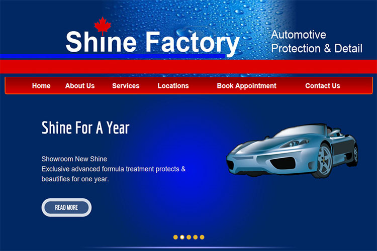 Shine Factory website design hosting and development Montreal montreal quebec