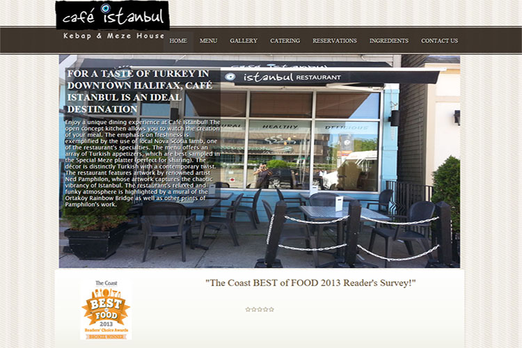 Cafe Istanbul website design hosting and development Montreal montreal quebec